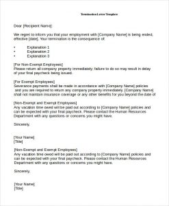employee termination letter job termination letter by employee