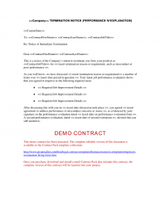 employee termination template employee termination letter human resources letters forms and