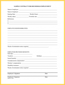 employee termination template household employee termination letter template