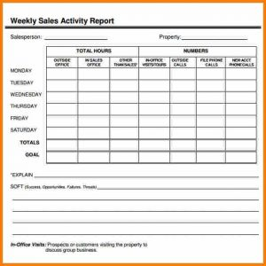 employee timesheet template weekly activity report format excel sales report image