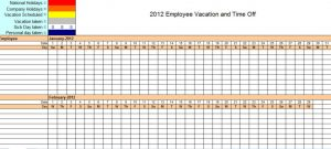 employee vacation tracking employee vacation tracking calendar template x