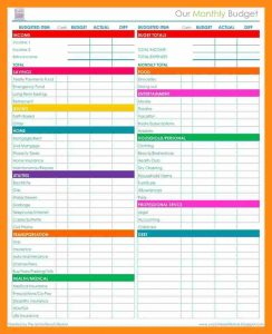 employee verification form monthly budget checklist eeaaaece