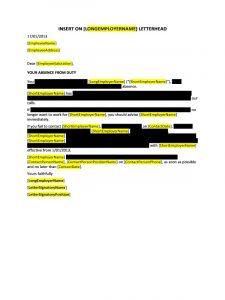 employee warning letter doc