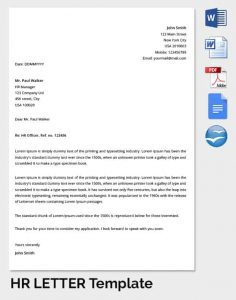 employee warning letter hr manager letter of template min