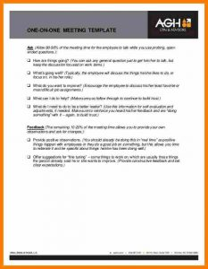 employee welcome letter one on one meeting template employee meeting feedback template cb