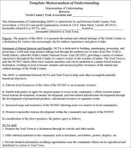 employee write up form free printable template memorandum of understanding