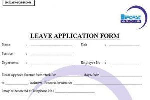 employee write up templates leave form sample