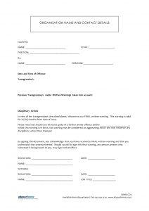 employee written warning form written warning template uwibih