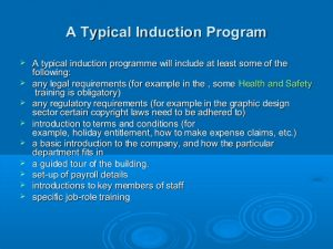 employees manual template role play induction process for new employees