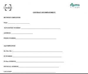 employment agreement sample screen shot at pm