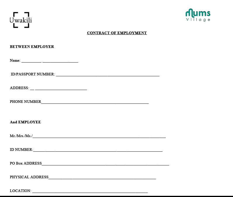 employment agreement sample