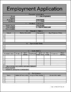 employment application form pdf ja