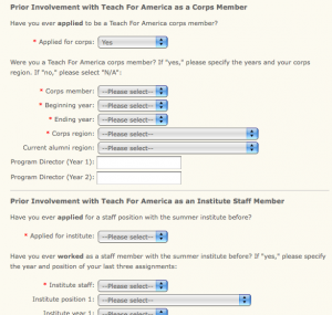 employment application forms involvment with tfa application form