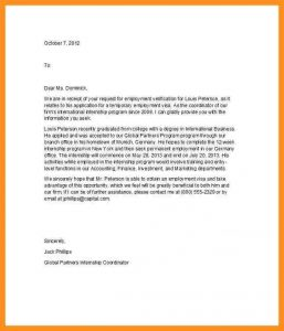 employment confirmation letter employment confirmation letter from employer