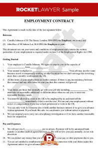 employment contract sample employment contract