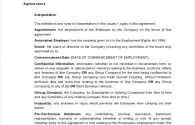 employment contract sample executive employment contract sample