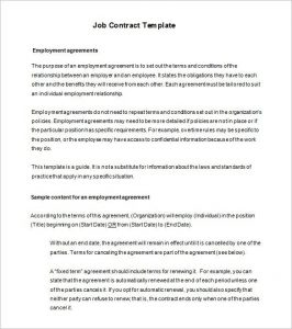 employment contract template job contract templates free word pdf documents download in employment contract template free download