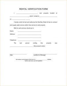 employment verification form template doc landlord verification form tenant verification
