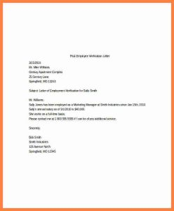 employment verification form template employment and salary verification letter sample past employee verification letter template