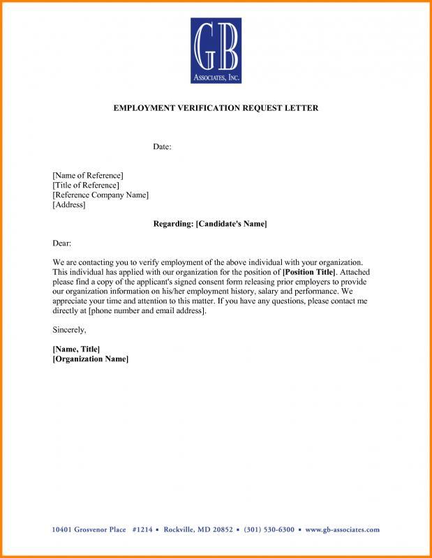 employment verification form template