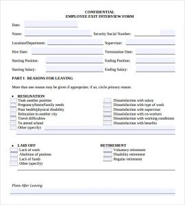 employment verification form templates sample employee exit interview form