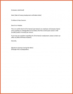 employment verification letter template sample employment verification letter employment verification letter