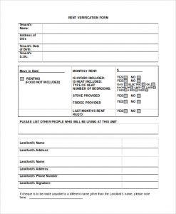 employment verification letter template word blank rental verification form