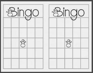 empty bingo card christmas blank bingo card template