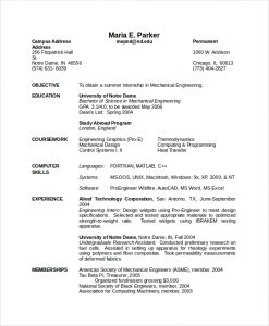 engineering resume template mechanical engineering resume
