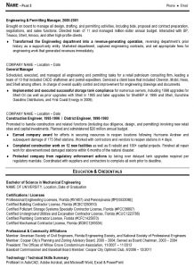 engineering resume template sample resume engineering management pg