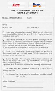 enterprise rental agreement avis budget rental agreement addendum terms conditions