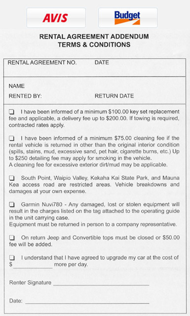 Enterprise Rental Agreement Template Business