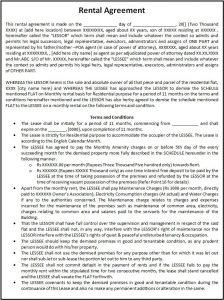 enterprise rental agreement rental agreement template