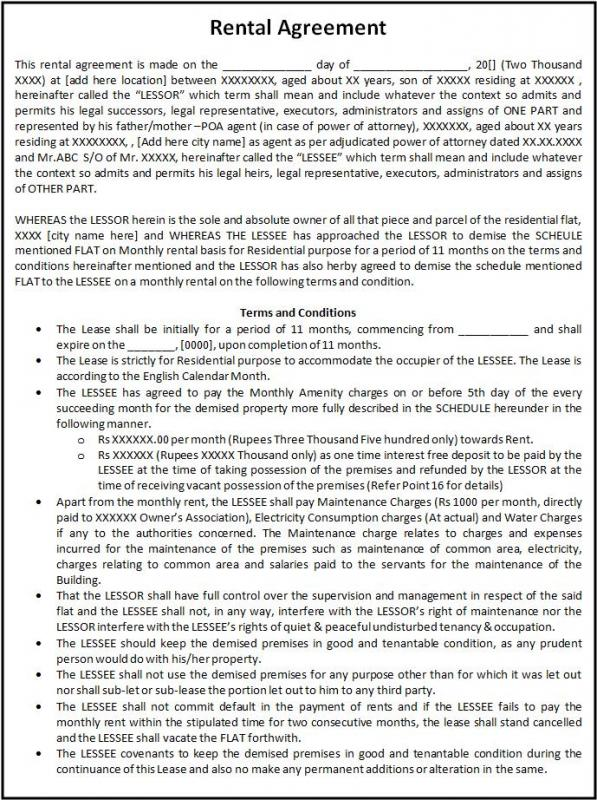 enterprise rental agreement