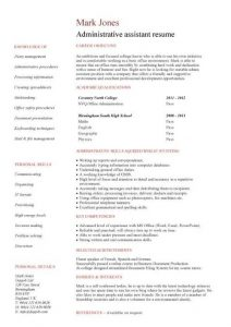 entry level administrative assistant resume pic student resume