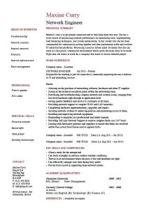 entry level cover letter examples network engineer resume personal summary work experience