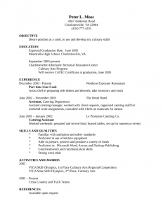 entry level resume template entry level freshers cook resume l