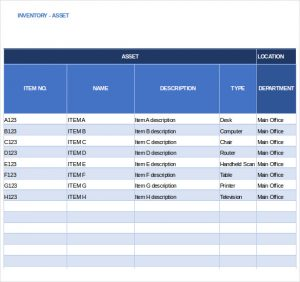 equipment inventory template business effective and simple asset and inventory list tracking template sample