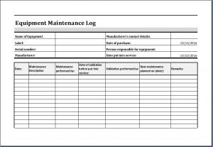 equipment inventory template sheets brilliant equipment maintenance and repair log template sample