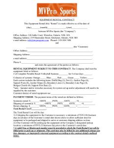 equipment rental agreement equipment rental contract