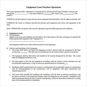 equipment rental contract equipment rental agreement doc