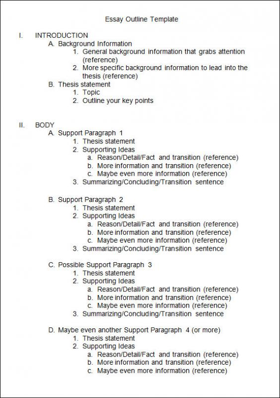 essay outline example