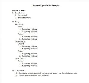 essay outline example sample research essay outline template download