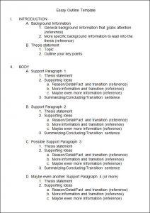 essay outline template essay outline template