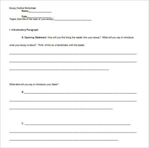 essay writing template informative essay outline template