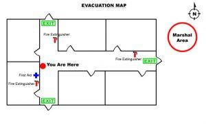 evacuation plan template sample evacuation map
