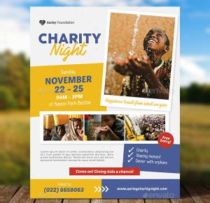 event flyer design charity event flyer template