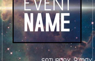 event flyer design galaxy event flyer template cdeeeb screen