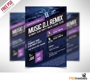 event flyer design music event flyer template free psd