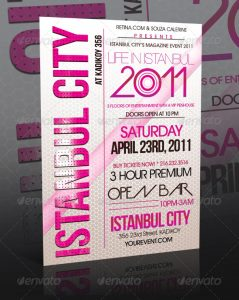 event flyer design preview